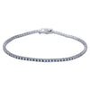 14K WHITE GOLD UNISEX BRACELET WITH 1.51 CT  DIAMONDS