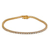 14K YELLOW GOLD UNISEX BRACELET WITH 1.93 CT  DIAMONDS