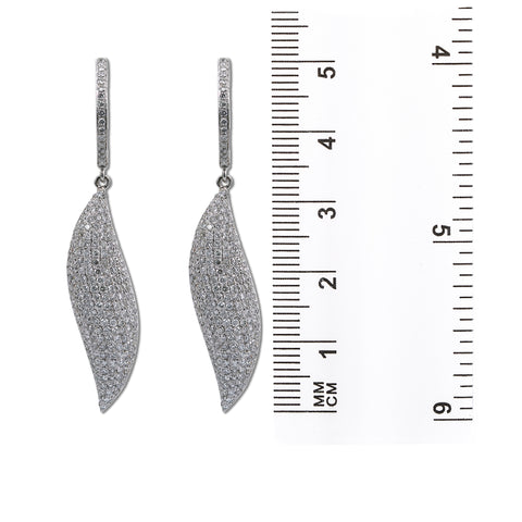 18K White Gold Ladies Earrings With 3.15 CT Diamonds