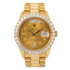 Rolex Day-Date 18038 36MM Champagne Diamond Dial With 2.75 CT Diamonds