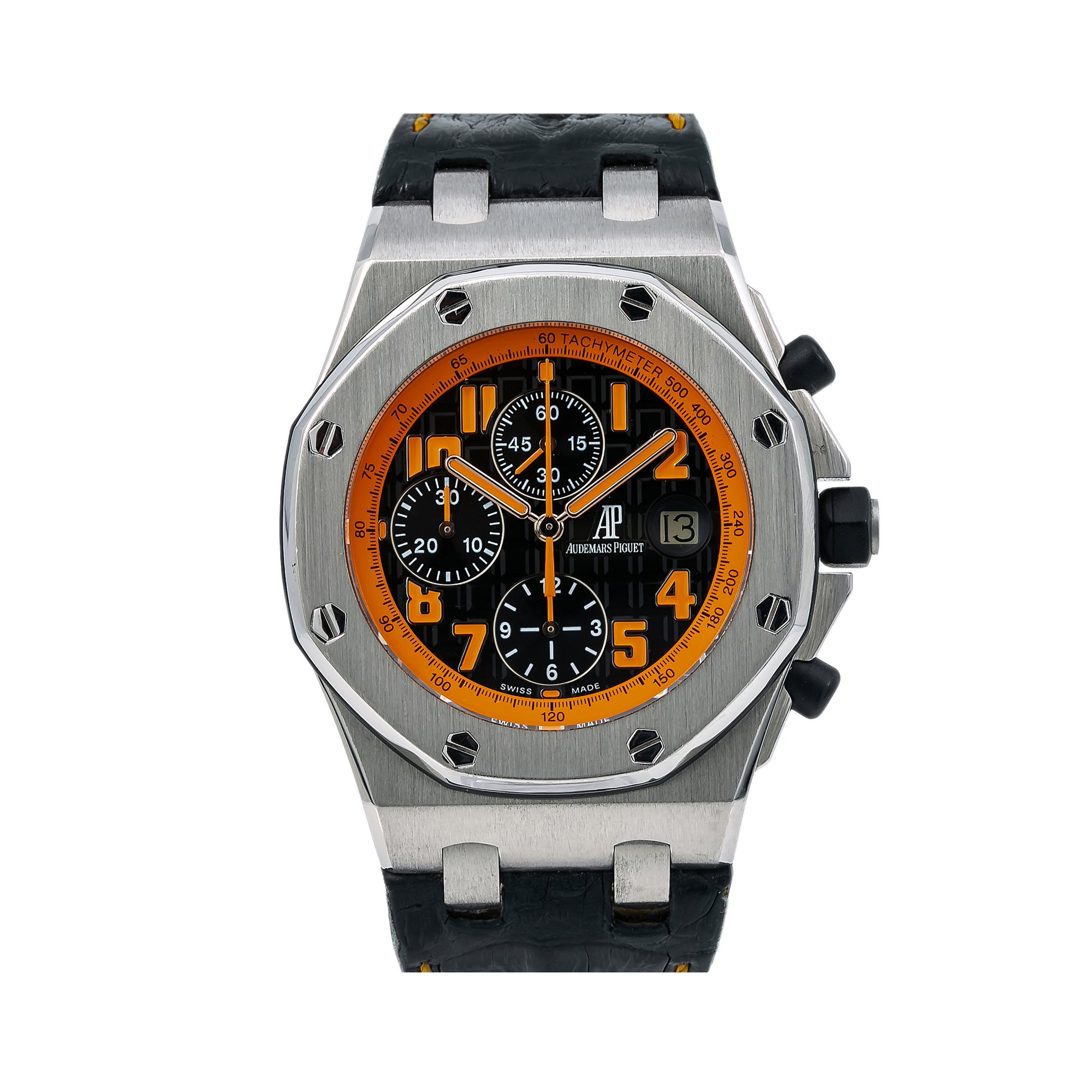 Audemars Piguet Royal Oak Offshore Chronograph 26170ST 42MM Black Dial With Leather Bracelet