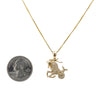 Women's 14K Yellow Gold Pendant with 0.48 CT Diamonds