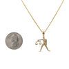 Women's 14K Yellow Gold Pendant with 0.35 CT Diamonds