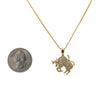 Women's 14K Yellow Gold Pendant with 0.15 CT Diamonds