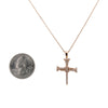 Men's 14K Rose Gold Cross of Nails Pendant with 0.16 CT Diamond
