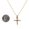 Men's 14K White Gold Cross of Nails Pendant with 0.40 CT Diamonds