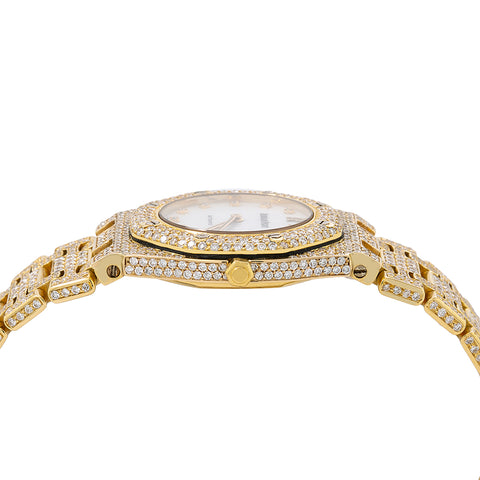 Audemars Piguet Royal Oak 27mm 67075BA White Diamond Dial With 9.00 CT Diamonds