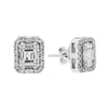 Women's 18K White Gold 0.85 CT Diamond Earrings