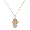 14k Yellow Gold Hamsa Pendant with 2.05 Ct Diamonds