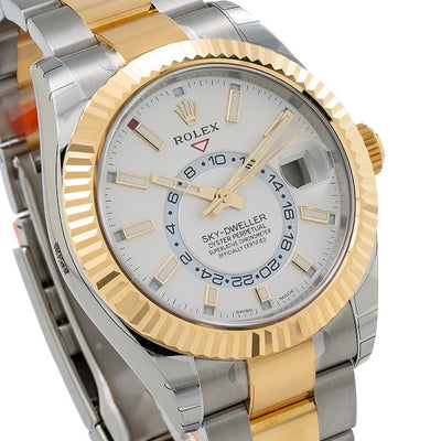 Rolex Sky-Dweller 326933 42MM White Dial With Two Tone Bracelet