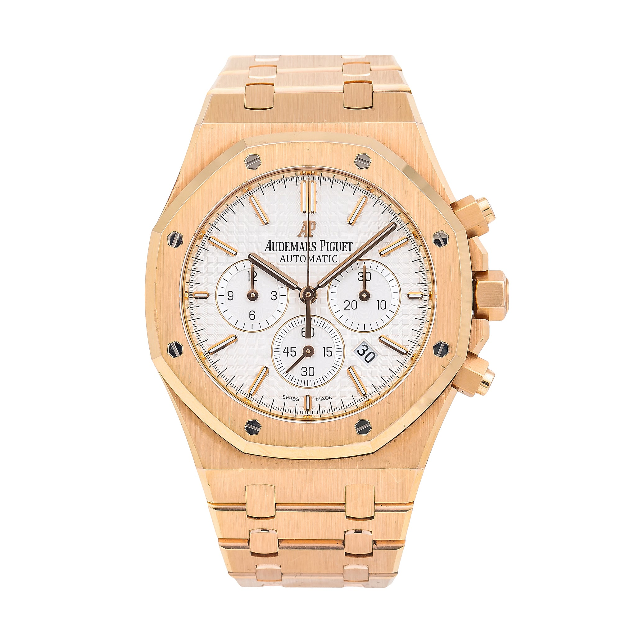 Audemars Piguet Royal Oak Chronograph 26320OR 41MM White Dial With Rose Gold Bracelet