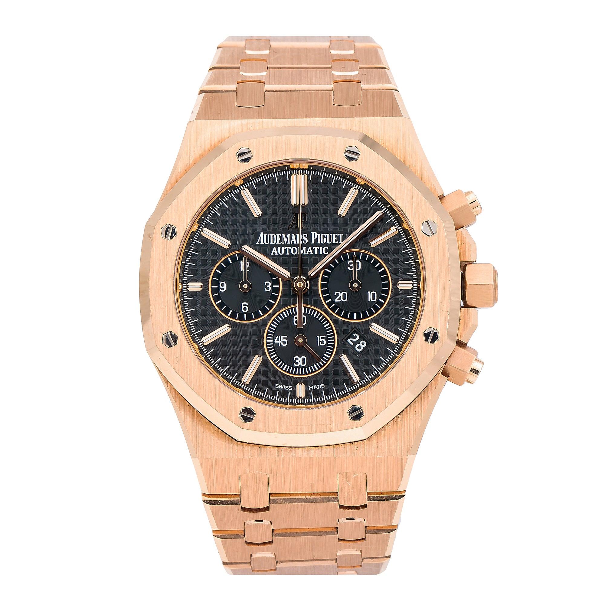 Audemars Piguet Royal Oak Chronograph 26320OR 41MM Black Dial With Rose Gold Bracelet