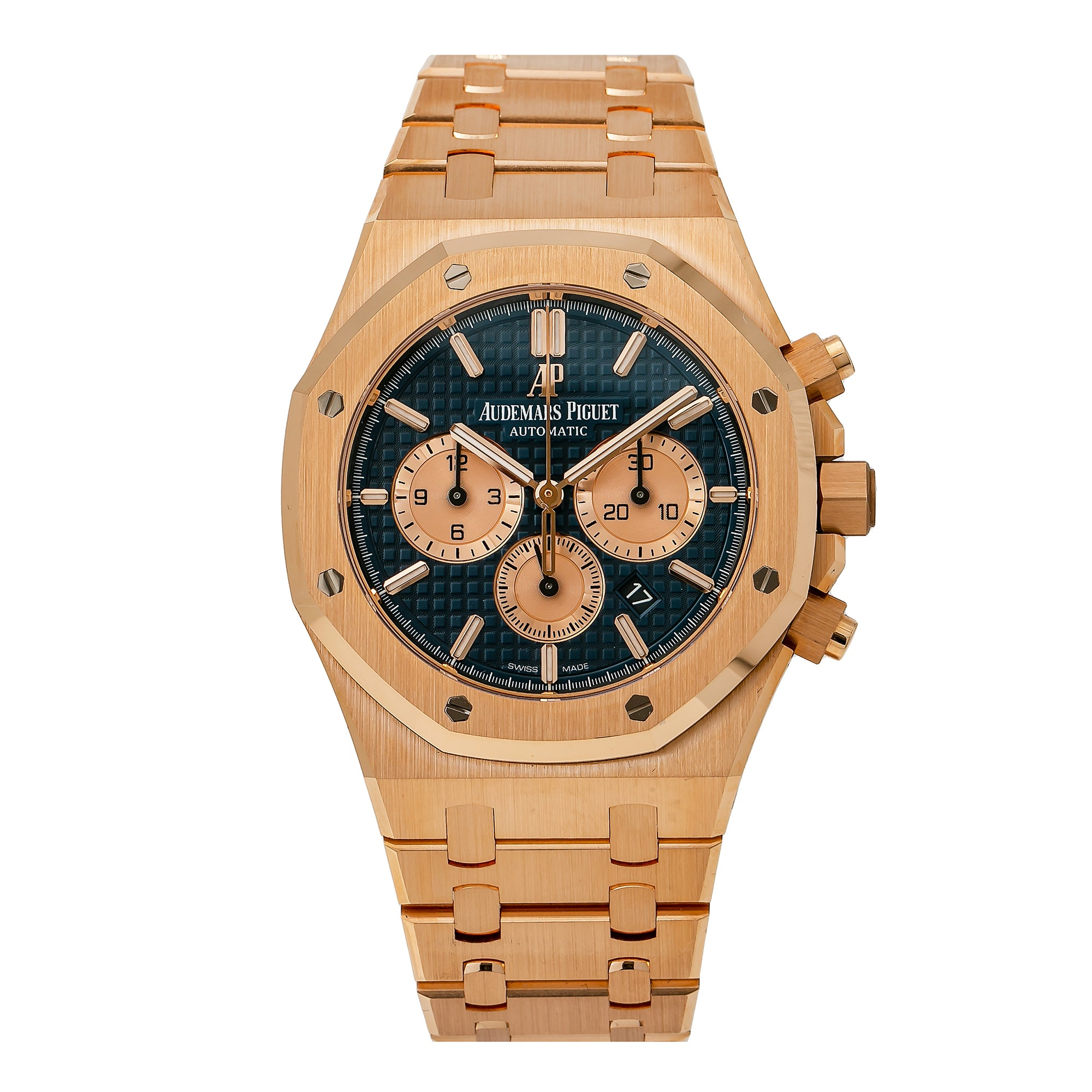 Audemars Piguet Royal Oak Chronograph 26320OR 41MM Blue Dial With Rose Gold Bracelet