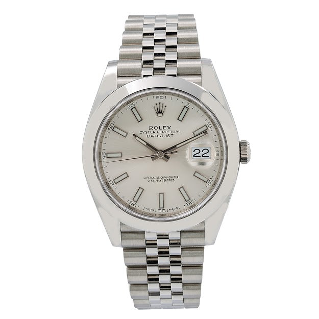 Rolex Datejust 41 126300 41MM White Dial With Stainless Steel Jubilee Bracelet