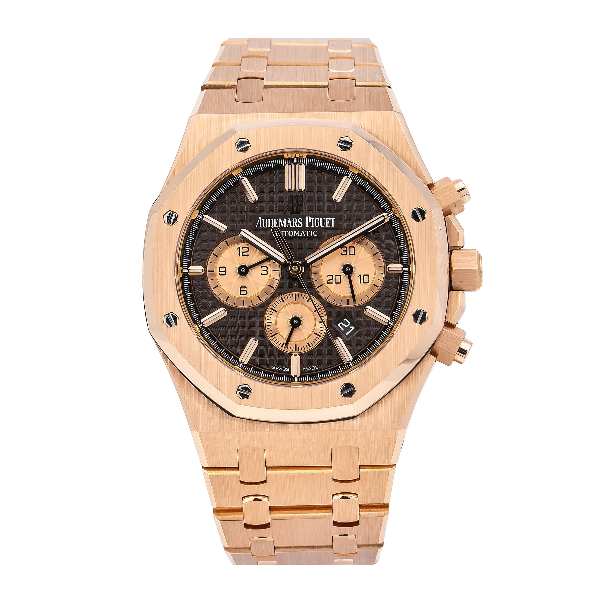 Audemars Piguet Royal Oak Chronograph 26331OR 41MM Black Dial With Rose Gold Bracelet