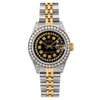 Rolex Lady-Datejust 69173 26MM Black Diamond Dial With 1.2 CT Diamonds