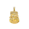 14K Yellow Gold  Diamond Jesus Head Pendant