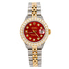 Rolex Datejust 6916  26MM Red Diamond  With 2.25 CT Diamonds