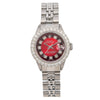 Ladies Rolex Datejust 69174 26MM Red Diamond Dial With Stainless Steel Jubilee Bracelet