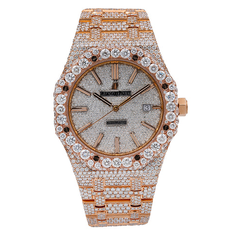 Audemars Piguet Royal Oak 15400OR 41MM White Diamond Dial With 27.75 CT Diamonds