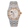 Audemars Piguet Royal Oak 25168SR 39MM  White Moon Phase Dial With 22.75 CT Diamonds