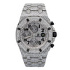 Audemars Piguet Royal Oak Offshore Chronograph 25721ST 42MM Silver Diamond Dial With 26.25 CT Diamonds