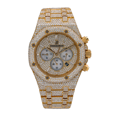 Audemars Piguet Royal Oak Chronograph 26320BA 41mm Champagne Dial With 27.75 CT Diamonds