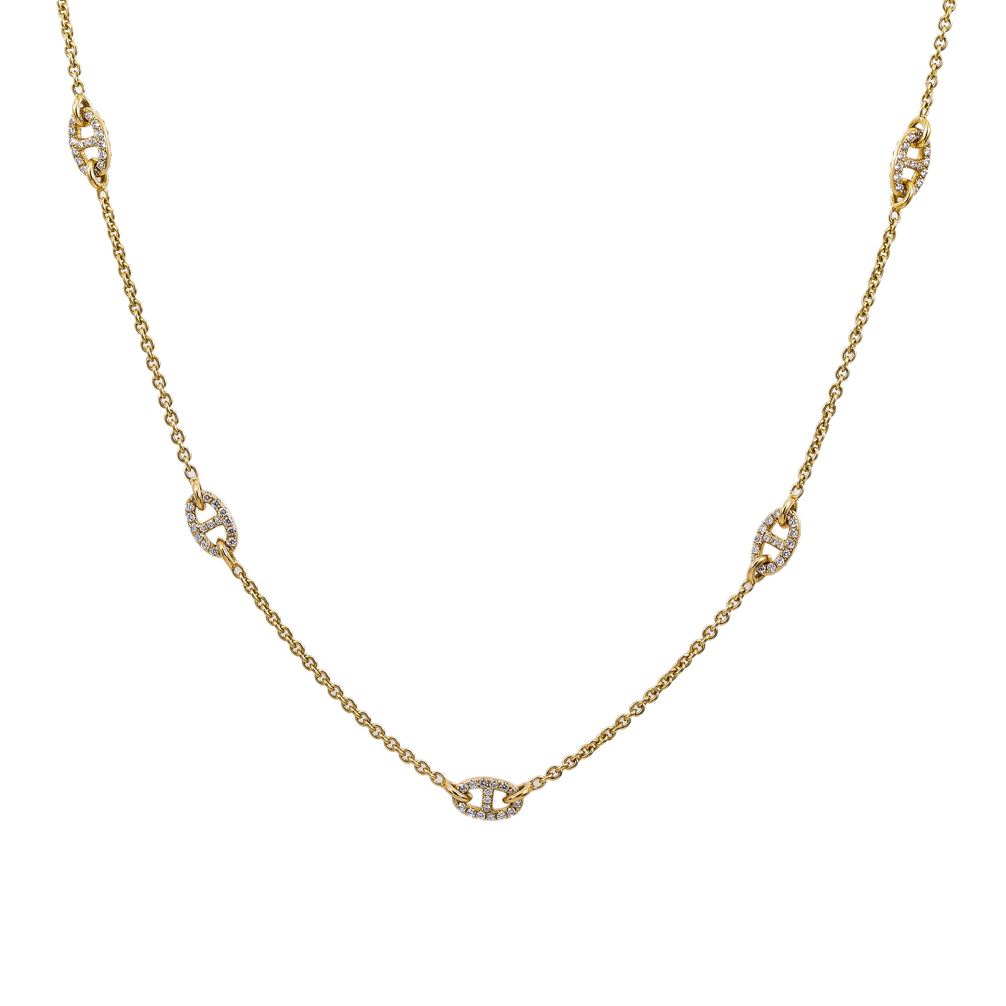18K Yellow Gold Women's Necklace, 18