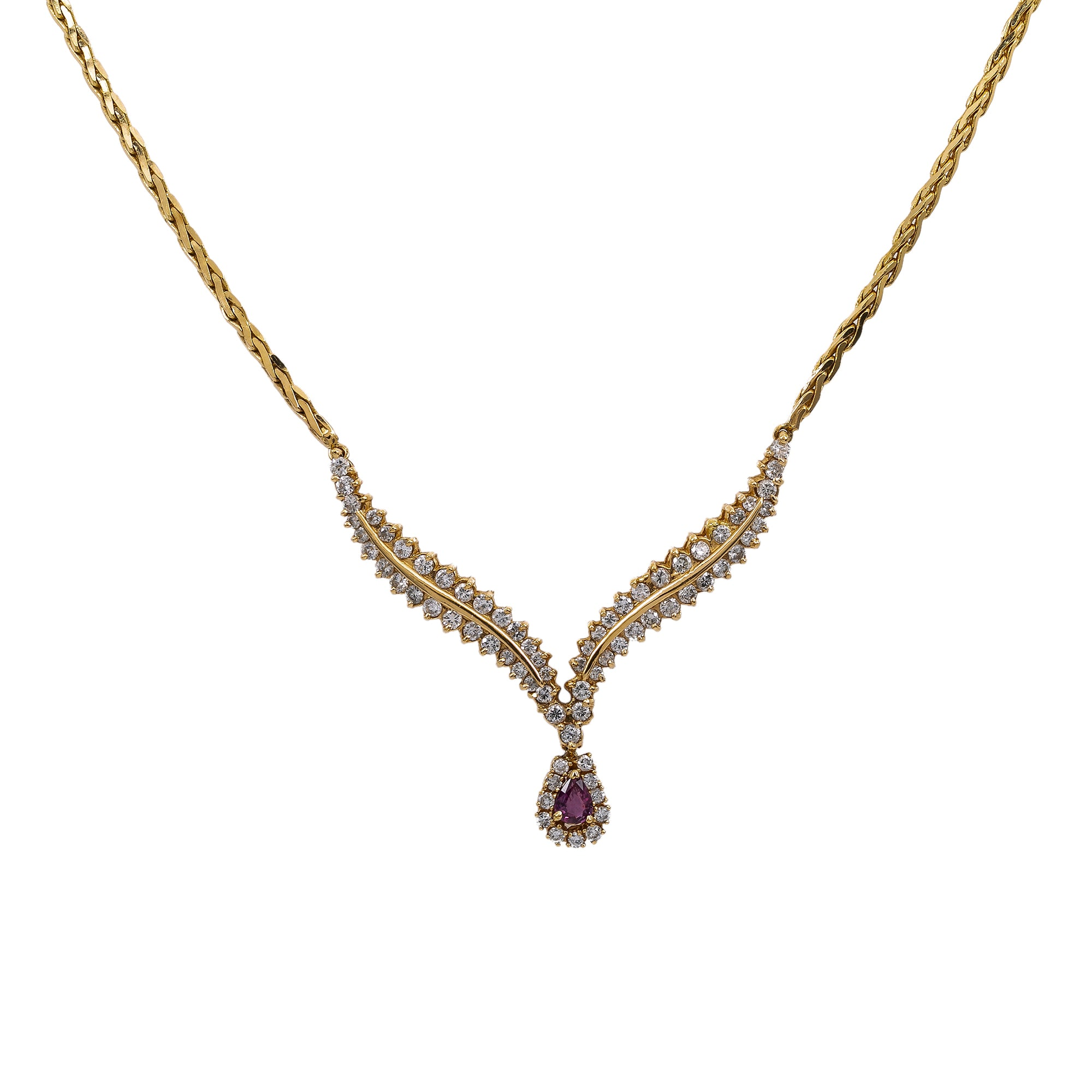 14K Yellow Gold Women's Necklace, 18
