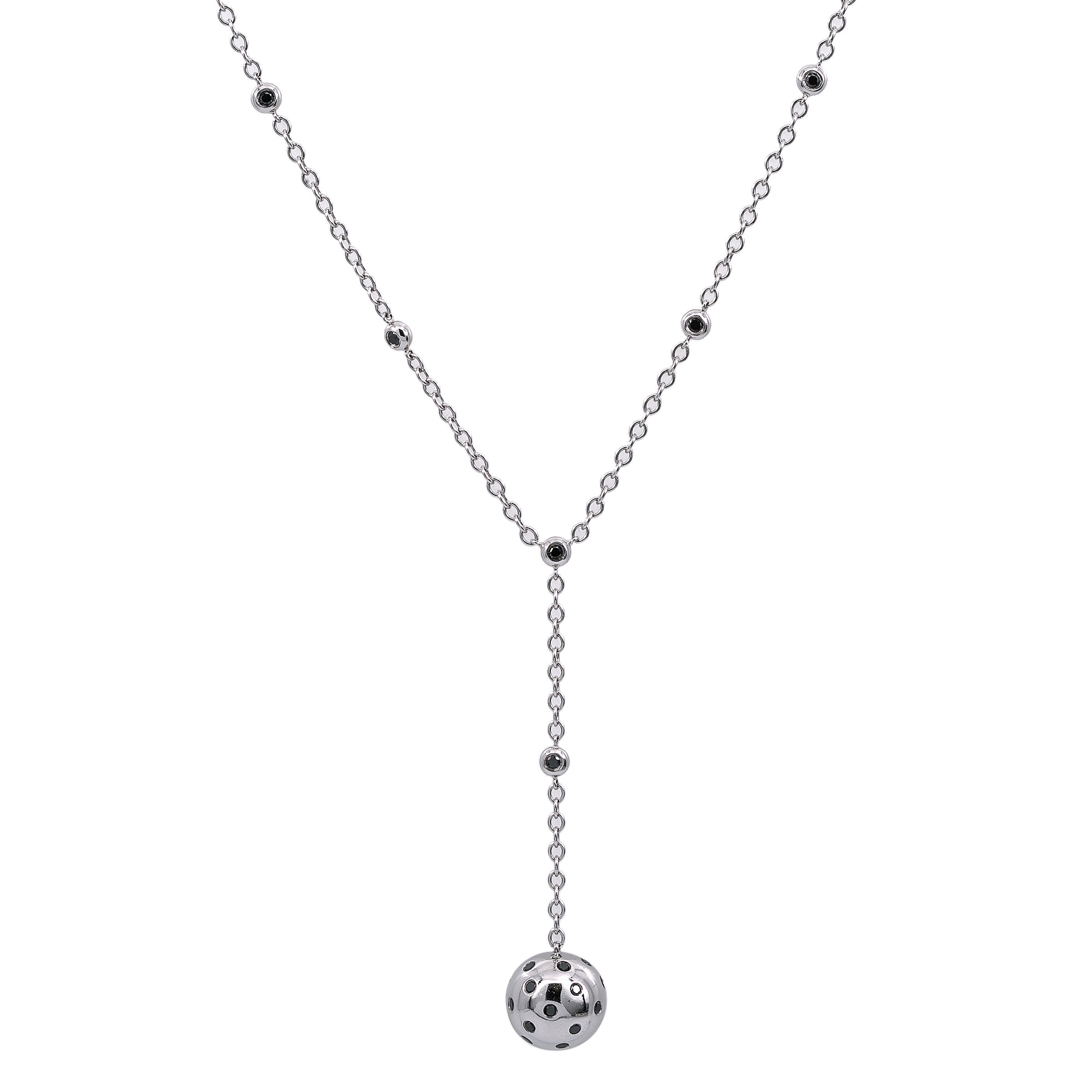 18K White Gold Women's Necklace, 20