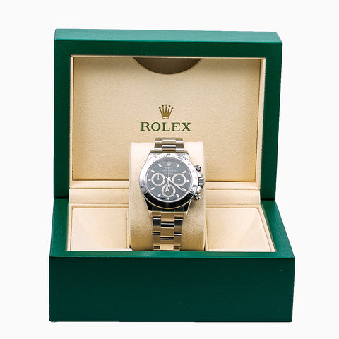 Rolex Daytona 116520 40MM Black Dial With Stainless Steel Bracelet
