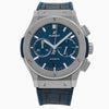 Hublot Classic Fusion Chronograph 541.NX. 42MM Blue Dial With Leather Bracelet