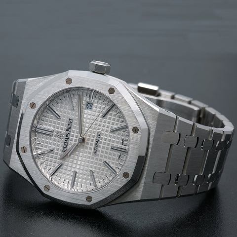 Audemars Piguet Royal Oak Self Winding 15400ST 41MM Silver Dial With Stainless Steel Bracelet