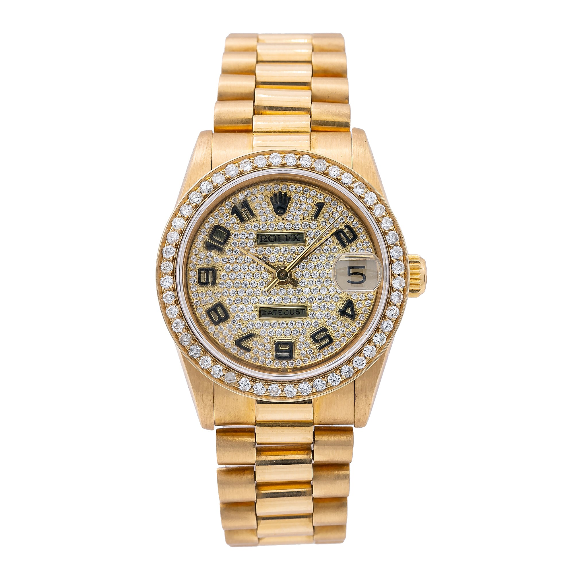 Rolex Datejust 68278 31MM Yellow Gold Diamond Dial With 2.50 CT Diamonds