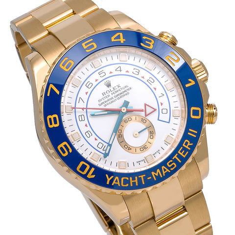 Rolex Yacht-Master II 116688 44MM White Dial With Yellow Gold Bracelet