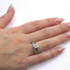 Ladies 14k White Gold With 0.88 CT Halo Engagement Ring