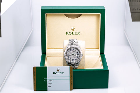 Rolex Datejust II 126300 40MM Silver Diamond Dial With 18.75 CT Diamonds