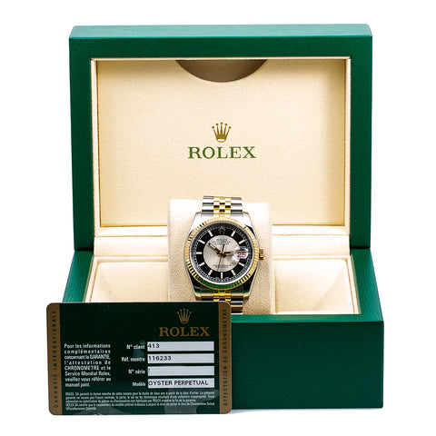 Rolex Datejust 116233 36MM Black Dial With Two Tone Bracelet