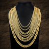 "14K Yellow Gold Hollow Miami Cuban Link Chain Available in Sizes 18""-30"""
