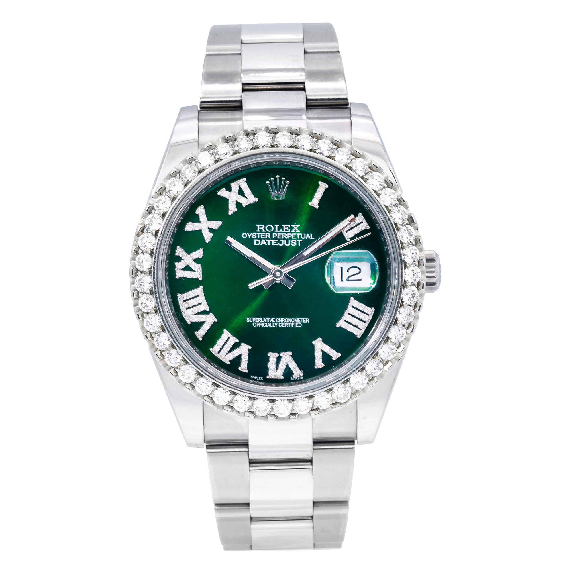 Rolex Datejust 126300 41MM Green Diamond Dial With Stainless Steel Oyster Bracelet