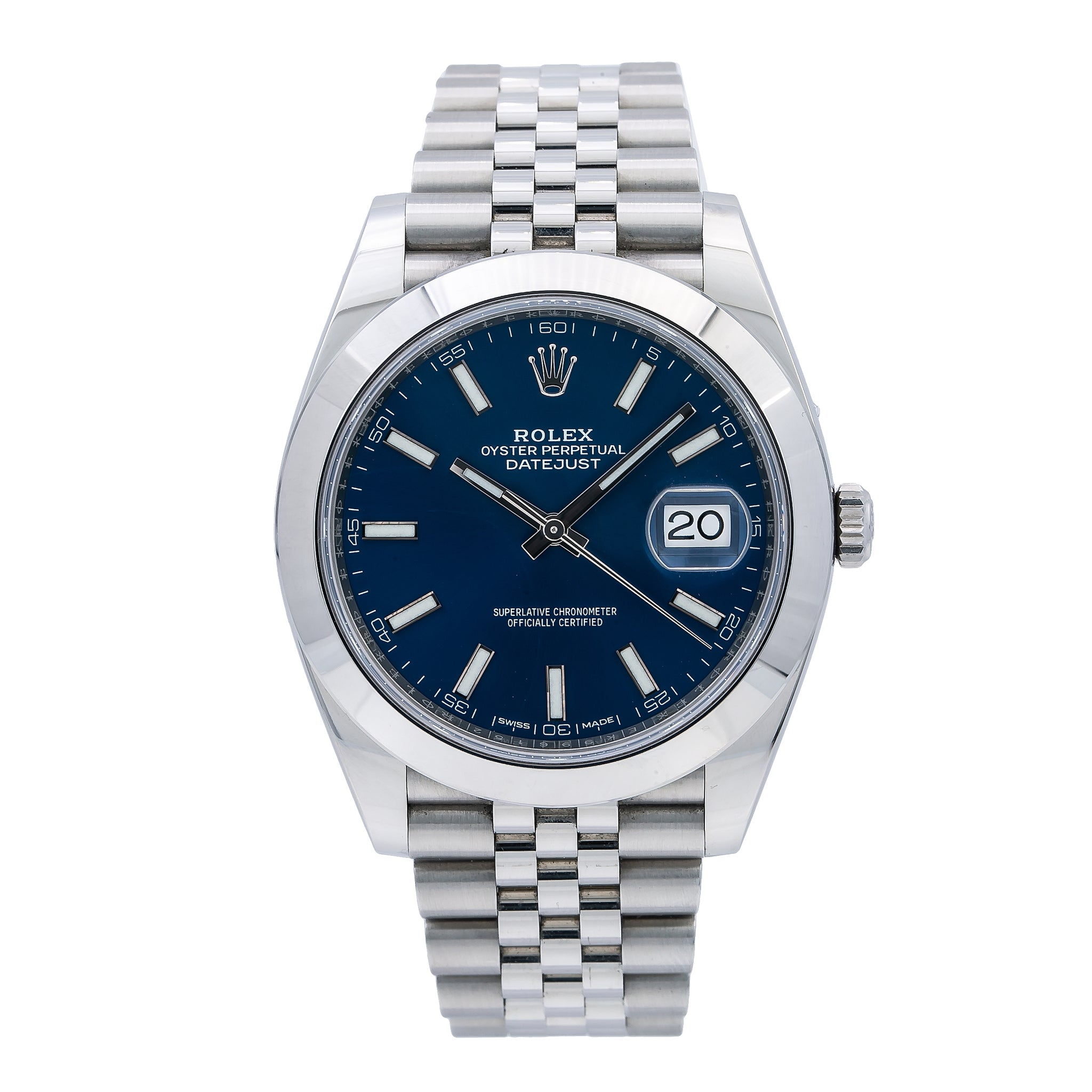 Rolex Datejust 126300 41MM Blue Dial With Stainless Steel Jubilee Bracelet