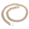14K Yellow Gold Cuban Chain Iced Out with 35.08 CT Diamonds
