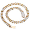 14K Yellow Gold Diamond Cuban Chain Iced Out With 19.21CT Diamonds