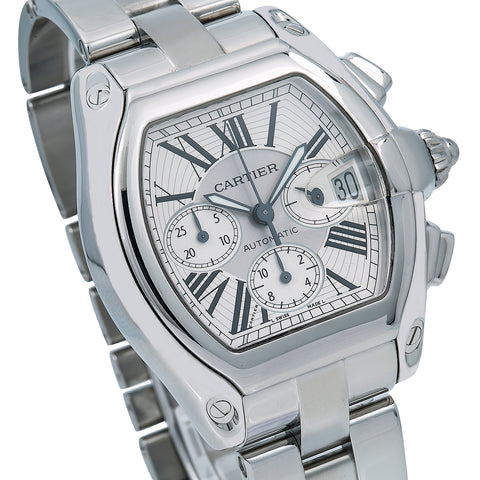 Cartier Roadster W62019X6 42 x 48 mm Silver Dial With Stainless Steel Bracelet