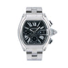 Cartier Roadster W62020X6 49 x 43 mm Black Dial With Stainless Steel Bracelet