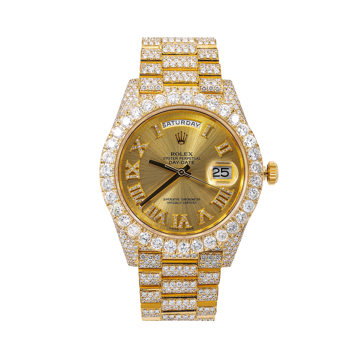 Rolex Day-Date 228238 40MM Champagne Diamond Dial With Yellow Gold Bracelet