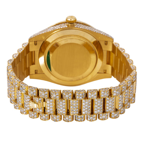 Rolex Day-Date Diamond Watch, 228238 40mm, Champagne Diamond Dial With Yellow Gold Bracelet