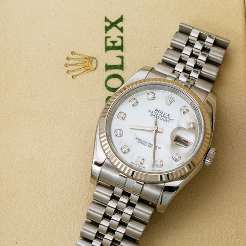 Rolex Datejust 116234 36MM White Diamond Dial With Stainless Steel Jubilee Bracelet