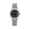 Rolex Datejust 68274 31MM Black Diamond Dial With Stainless Steel Bracelet