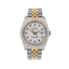 Rolex Datejust 116233 36MM White Diamond Dial With Two Tone Bracelet